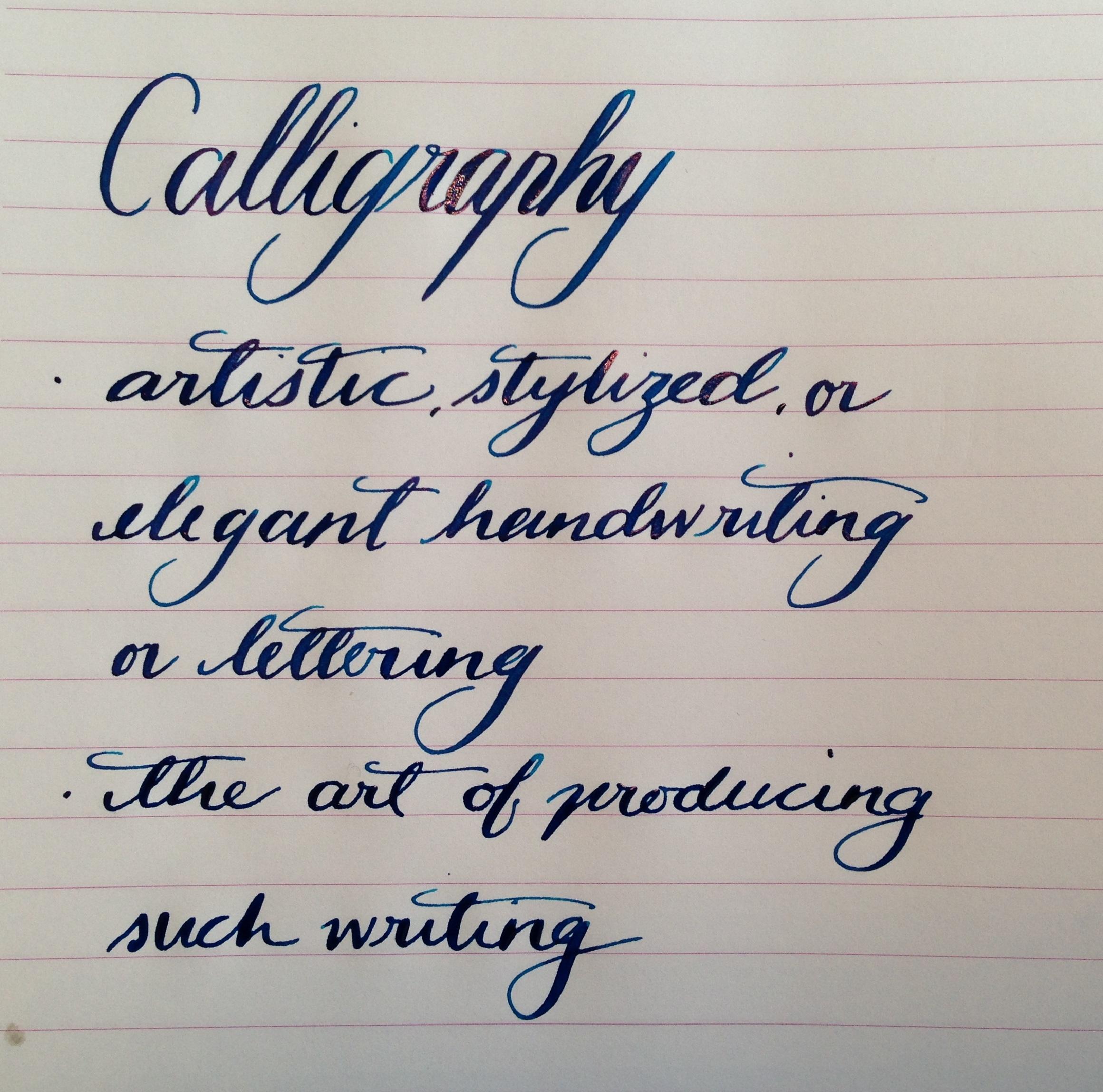 gopens com handwritten post calligraphy