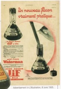 Jif Waterman Ink Bottles Waterman Past and Present 1