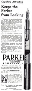 Parker Lucky Curve Fountain Pens 1910A