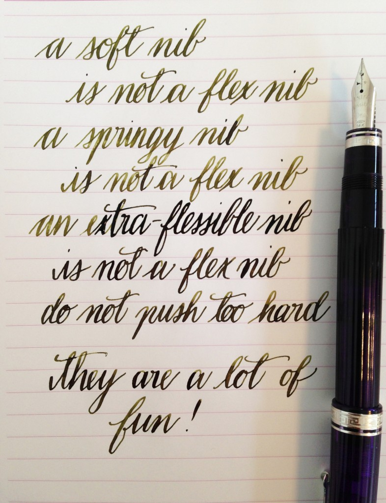 Handwritten Post. Soft Springy ExtraFlessible Flex Nib