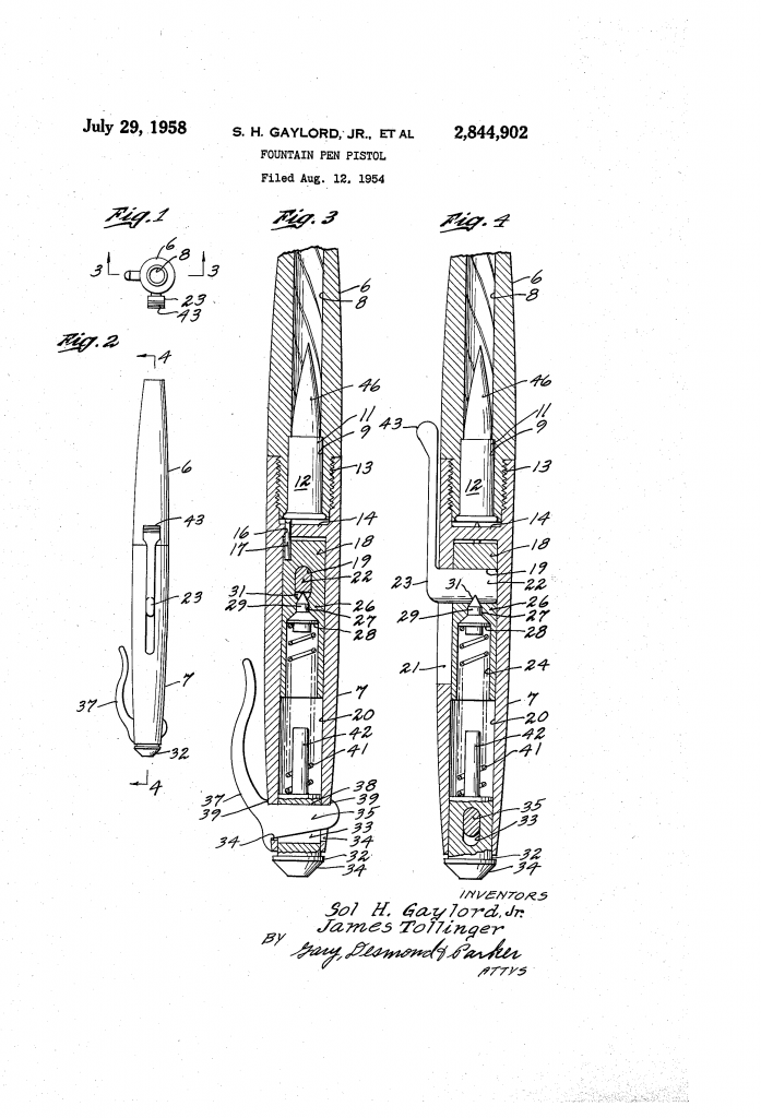 U.S. Patent No. 2,844,902. (Issued July 29, 1958).