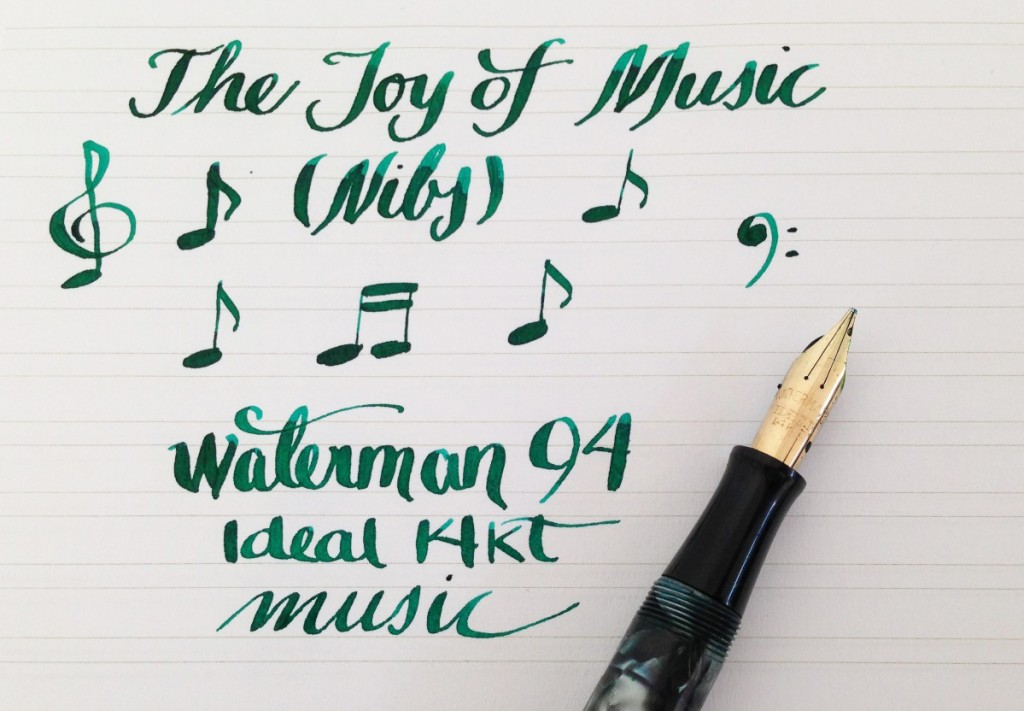 Handwritten Post - Music Nib Notes