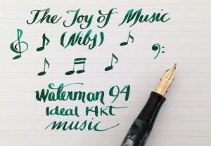 Handwritten Post Music Nib Notes