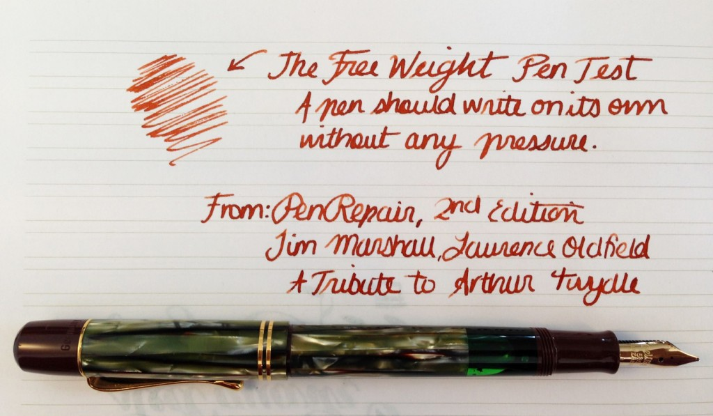 Handwritten Post. The Free-Weight Pen Test