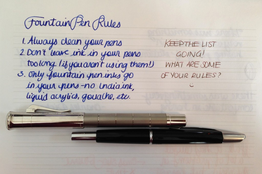 Handwritten Post - Fountain Pen Rules