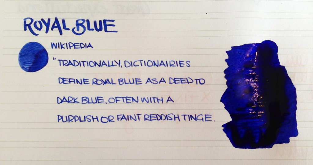 Handwritten Post - Royal Blue