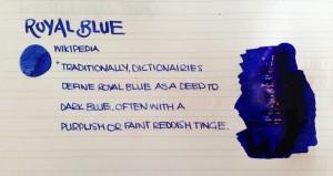 Handwritten Post Royal Blue