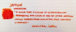 Handwritten Post Saffron