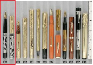 Extraordinary Pens Waterman Art Nouveau