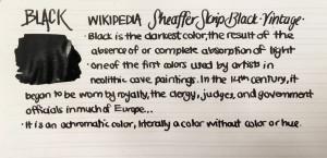 Handwritten Post Black