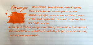 Handwritten Post Orange
