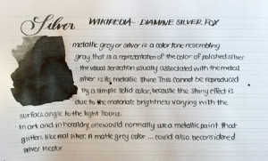 Handwritten Post Silver