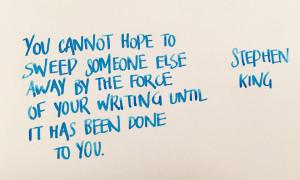 Handwritten Post Sweep Yourself Away