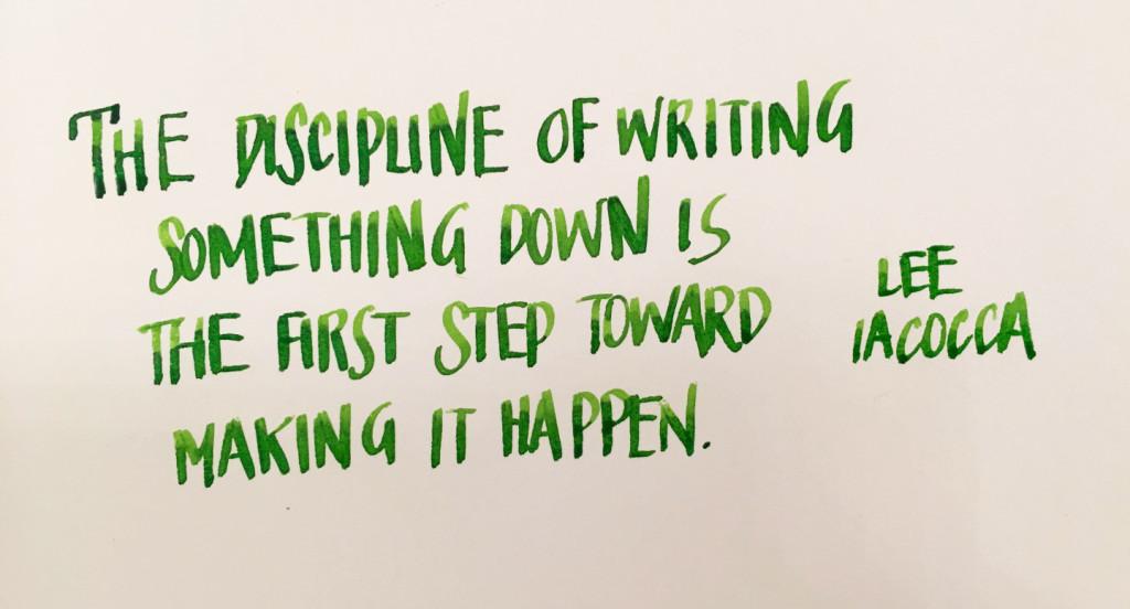 Handwritten Post - Writing Things Down