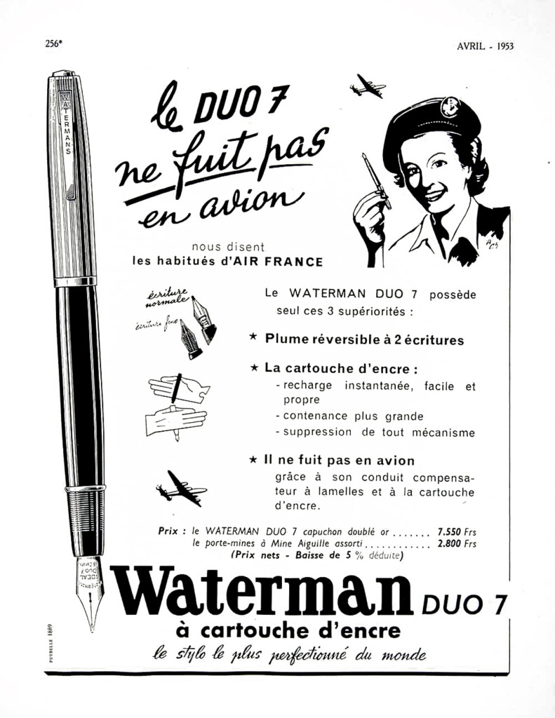 Waterman Duo 7 Glass Cartridge Filler Ad