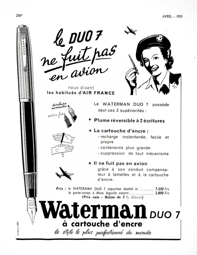 Waterman Duo 7 Glass Cartridge Filler Ad