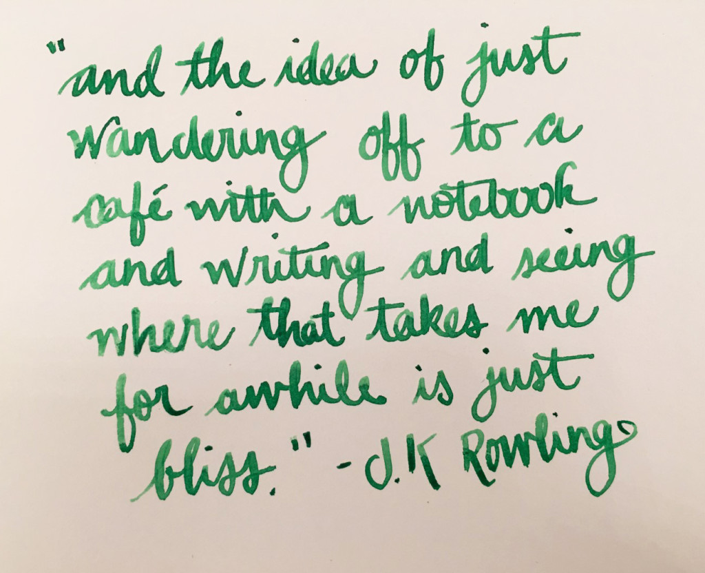 Handwritten Post - JK Rowling