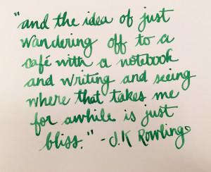 Handwritten Post JK Rowling