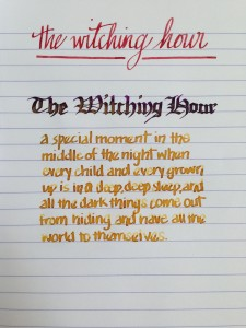 Handwritten Post The Witching Hour