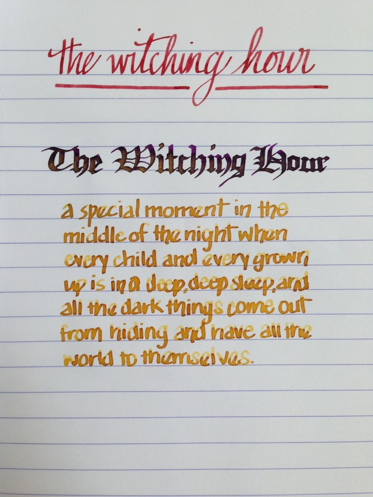 Handwritten Post - The Witching Hour
