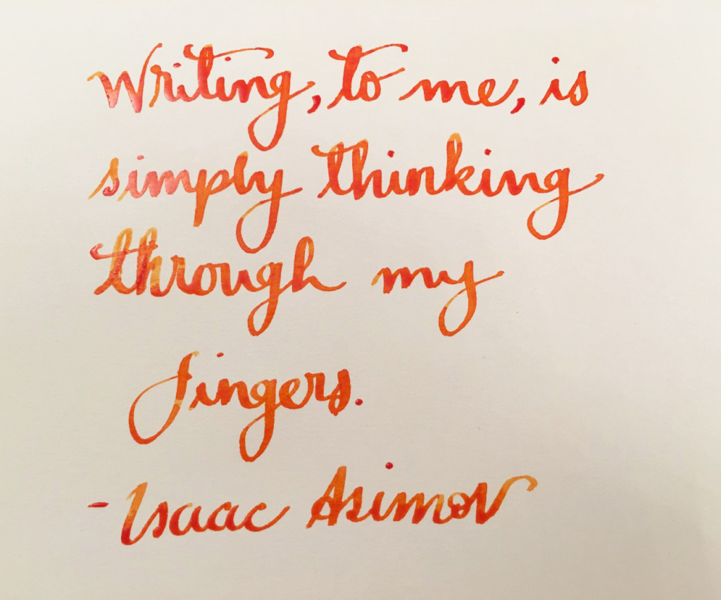 Handwritten Post - Isaac Asimov