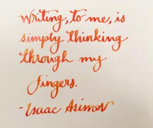 Handwritten Post Isaac Asimov