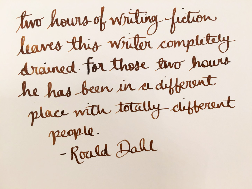 Handwritten Post - Roald Dahl