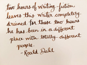 Handwritten Post Roald Dahl