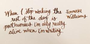 Handwritten Post Tennesse Williams