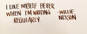 Handwritten Post Willie Nelson