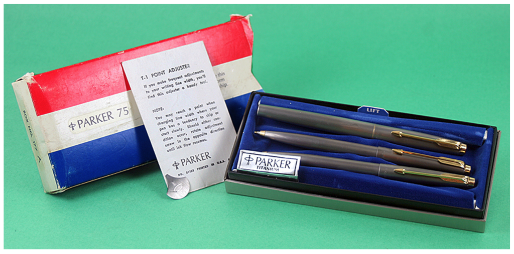 Parker T-1 Three Piece Set in Titanium