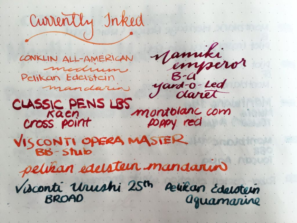 Currently Inked - February 25. 2017