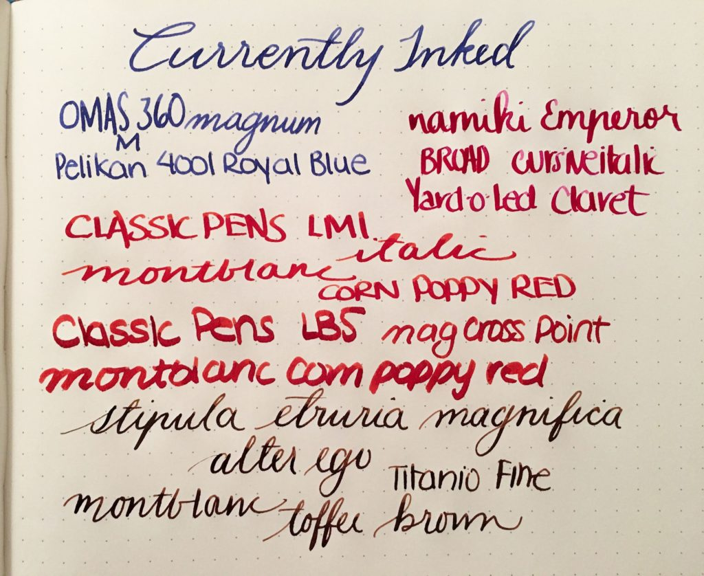 Currently Inked - March 25. 2017