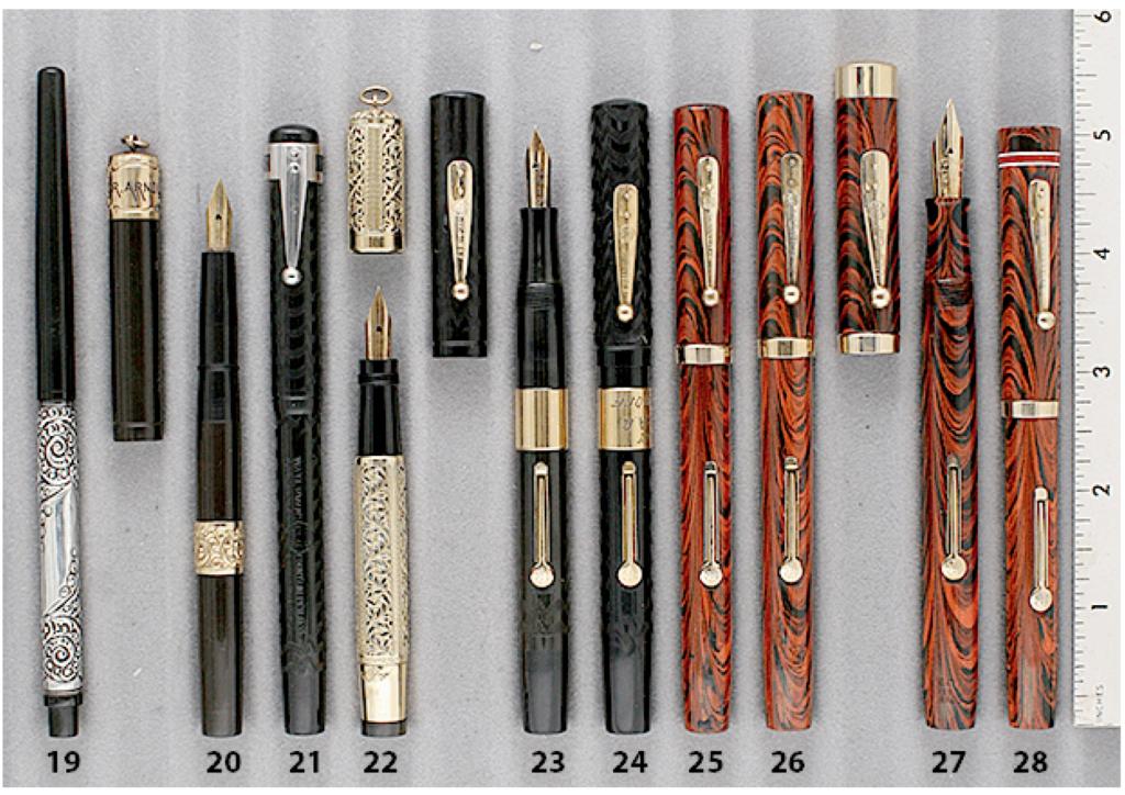 Vintage Pen Waterman 12 Chatelaine Ring Top