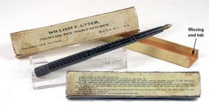 William F Unger Fountain Pen in Box