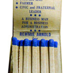 Arnold for Governor Matchbook Inside