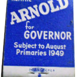 Arnold for Governor Matchbook Back Cover