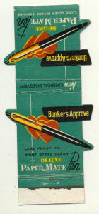 Paper Mate Matchbook Cover