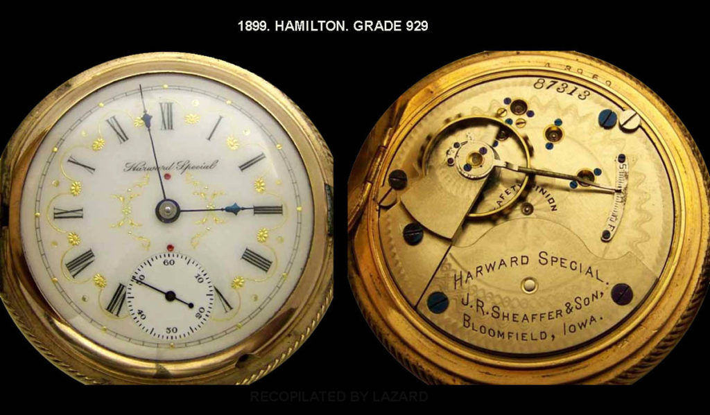 1899 hamiltom pocket watch