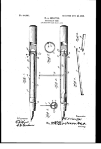 Walter Sheaffer 1908 Patent.